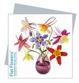 Flat Flowers Wenskaart + Raamsticker Aquilegia - Flat Flowers