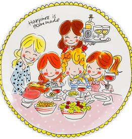 "Blond Amsterdam Dinerbord Girls 26cm ""Even Bijkletsen"" - Blond Amsterdam"