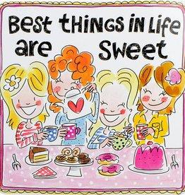 """Blond Amsterdam Blik Vierkant Best Things """"Even Bijkletsen"""" - Blond Amsterdam"""