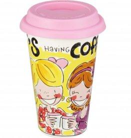 "Blond Amsterdam Coffee to Go beker ""BFF Having Fun"" - Blond Amsterdam"