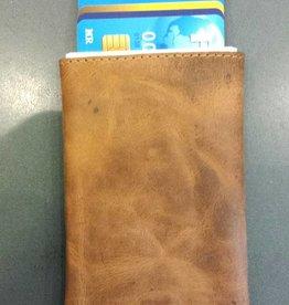Leren Hoesje met Alluminium Cardholder voor 6 kaarten