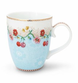 Pip Studio Mok groot Cherry 350ml Blauw - Pip Studio