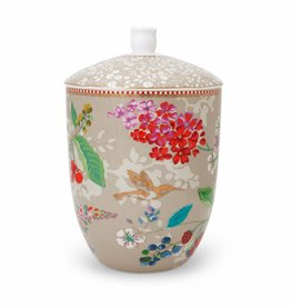 Pip Studio Voorraadpot Hummingbirds 1500ml Khaki - Pip Studio