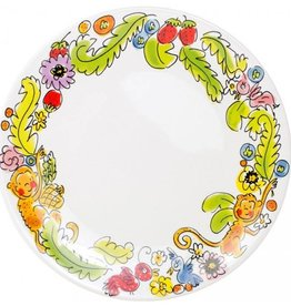 "Blond Amsterdam Dinerbord 26cm Aap ""Paradise"" - Blond Amsterdam"