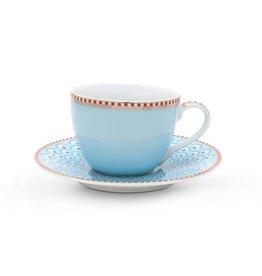 Pip Studio Espresso Kop & Schotel Bloomingtails blauw - Pip Studio