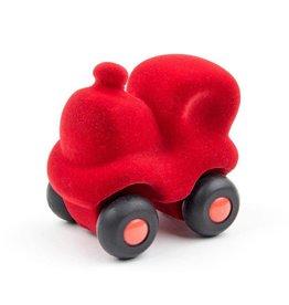 Rubbabu Trein klein 8x6cm rood - Rubbabu