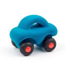 Rubbabu Auto klein 9,5x6cm blauw - Rubbabu