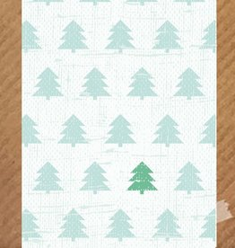 Kerstkaart Kerstbomen Mint - PeperMints