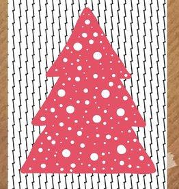 Kerstkaart Kerstboom rood - PeperMints