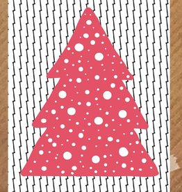 PeperMints Kerstkaart Kerstboom rood - PeperMints