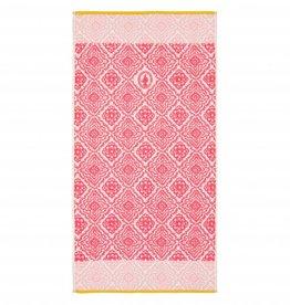 Pip Studio Handdoek groot Jacquard check 70x140cm donker roze - Pip Studio