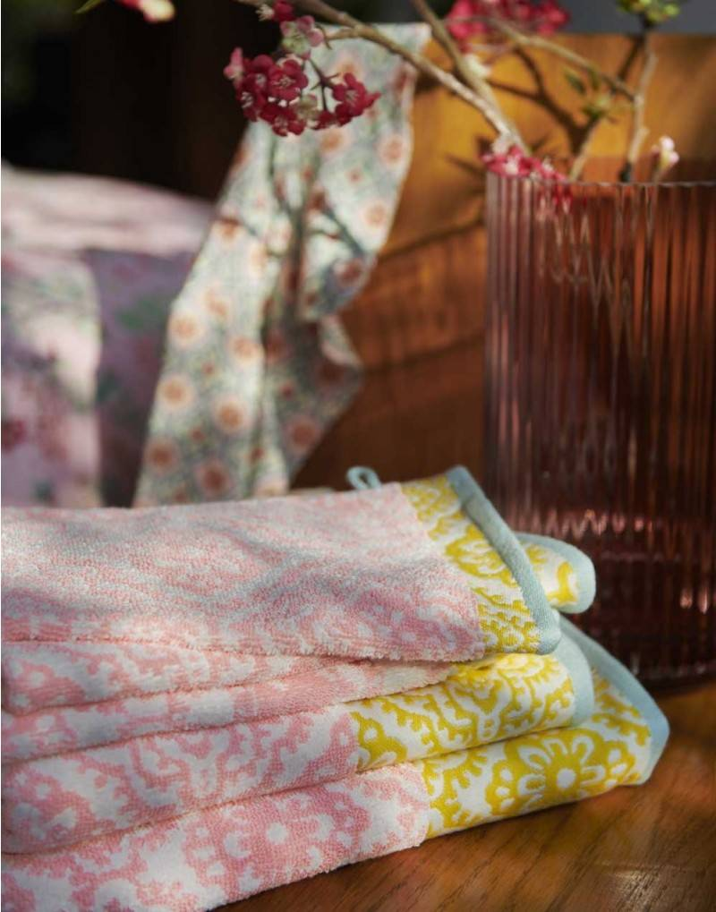 Pip Studio Handdoek Jacquard check 55x100cm licht roze - Pip Studio