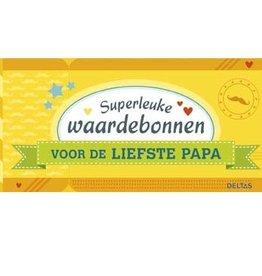 Superleuke waardebonnen voor de liefste Papa - Deltas
