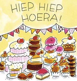 Blond Amsterdam Hiep Hiep Hoera! - Wenskaart Blond Amsterdam