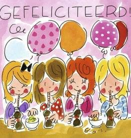 Blond Amsterdam Gefeliciteerd! - Wenskaart Blond Amsterdam