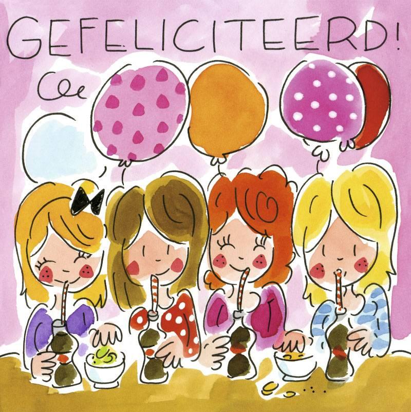 afbeelding gefeliciteerd Blond Amsterdam Gefeliciteerd!   Wenskaart Blond Amsterdam  afbeelding gefeliciteerd
