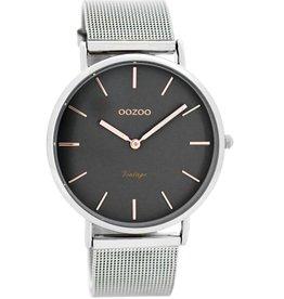 OOZOO Horloge Vintage silver/ grey / rosé 40mm C7725 - OOZOO