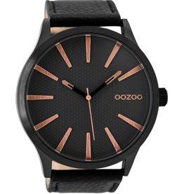 OOZOO Horloge black rosé black 50mm C9043 - OOZOO