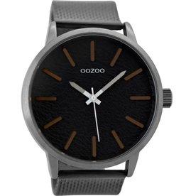 OOZOO Horloge zilver / darkgrey 48mm C9233 - OOZOO
