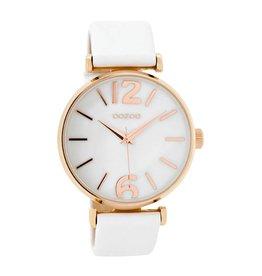 OOZOO Horloge white / rosé / white pearl 40mm C8916 - OOZOO