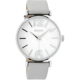 OOZOO Horloge grey / white pearl 40mm C8917 - OOZOO