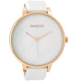 OOZOO Horloge White Rosé 48mm C8921 - OOZOO