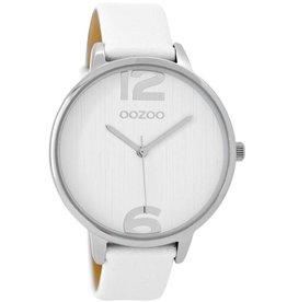 OOZOO Horloge white / zilver 42mm C8925 - OOZOO
