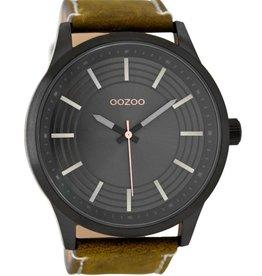 OOZOO Horloge brown / black 50mm C9077 - OOZOO