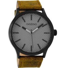 OOZOO Horloge brown / grey 45mm C9017 - OOZOO