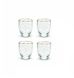 Pip Studio Set van 4 Water Glazen Floral - Pip Studio