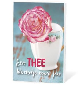 Een Thee Bloemetje voor jou - Thee in een kaartje