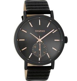 OOZOO Horloge zwart rosé 42mm C9189 - OOZOO