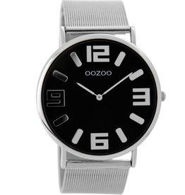 OOZOO Horloge Vintage zilver / zwart 42mm C8881 - OOZOO