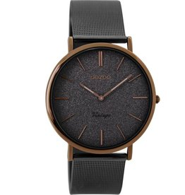 OOZOO Horloge Vintage olifant grijs / bruin 36mm C8862 - OOZOO
