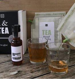 LIV 'N TASTE Teabrewer giftset incl. honing-kaneel siroop en 2 glazen - LIV 'N TASTE