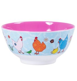Rice Kom Melamine Two Tone Kippen - Rice
