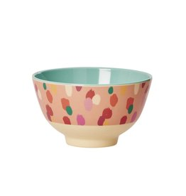 Rice Kom Melamine Small met coraal dot print  - Rice
