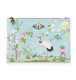 Pip Studio Platte Toilettas groot Floral Good Morning blauw - Pip Studio