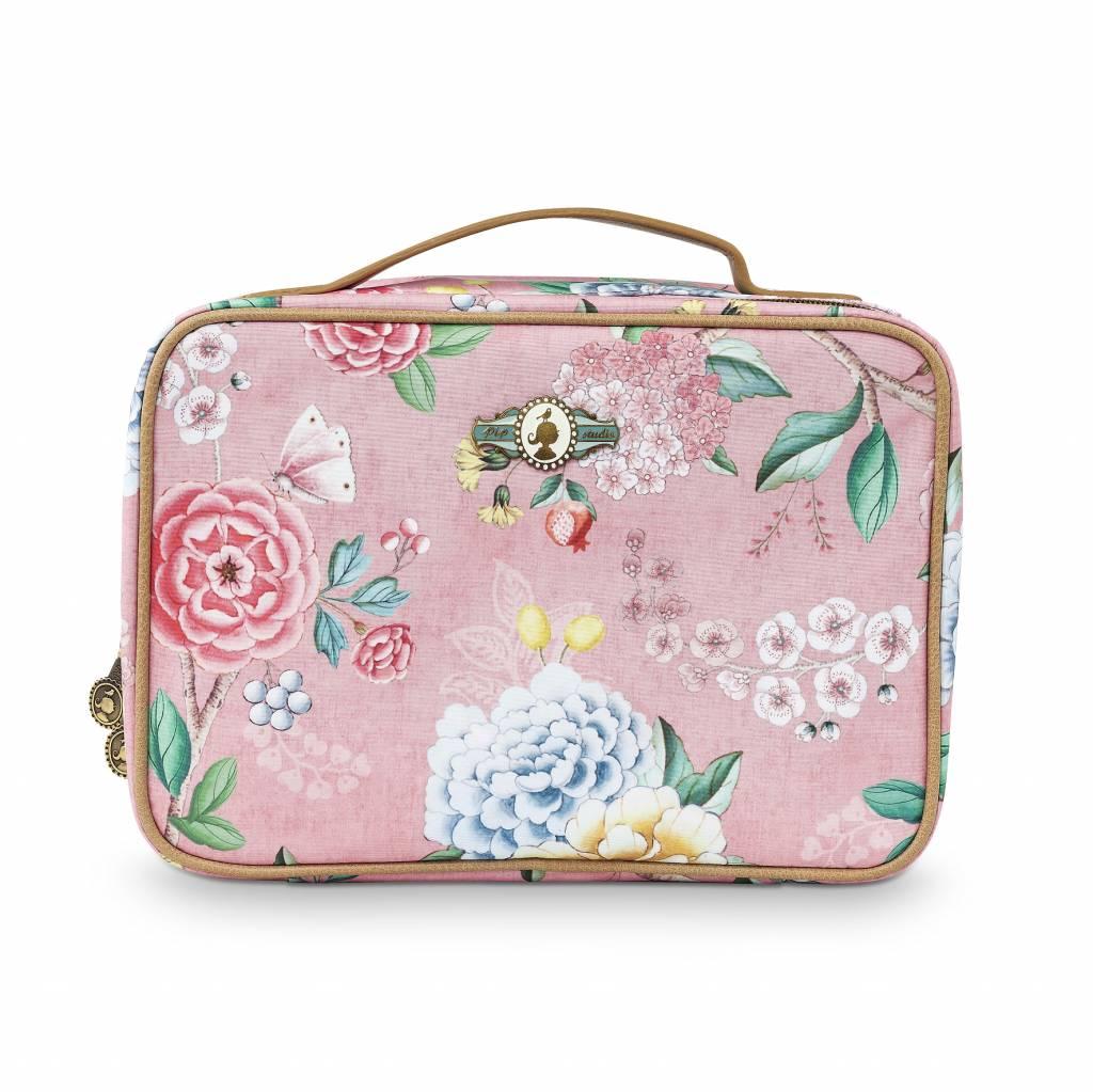 Pip Studio Beauty Case 2-zijdig groot Floral Good Morning roze - Pip Studio