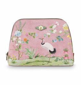 Pip Studio Toilettas groot Floral Good Morning roze - Pip Studio