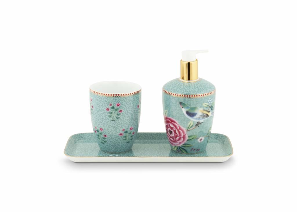 Set van 3 Badkameraccessoires Floral Good Morning blauw - Pip Studio ...