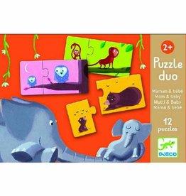 Djeco Puzzel duo Mama en Baby +2jr - Djeco