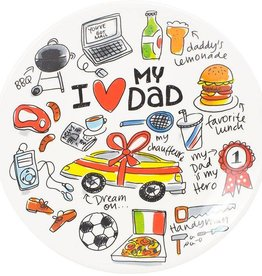 Blond Amsterdam Bord 22cm I Love Dad  - Blond Amsterdam