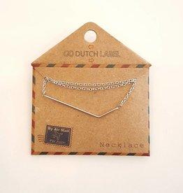 Go Dutch Label Ketting Zilver N8028 - Go Dutch Label