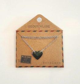 Go Dutch Label Ketting Hart zilver - Go Dutch Label