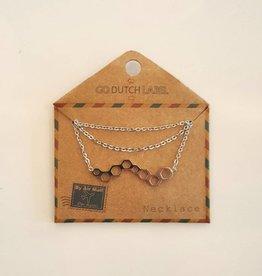 Go Dutch Label Ketting Honinggraat Zilver - Go Dutch Label