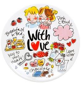 "Blond Amsterdam Gebaksbord 18cm Sleutel ""With Love"" - Blond Amsterdam"