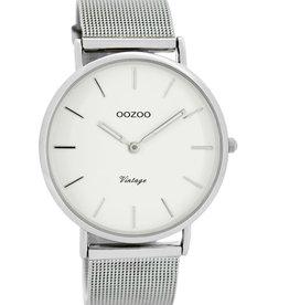 OOZOO Horloge Vintage silver/white 40mm C7724 - OOZOO