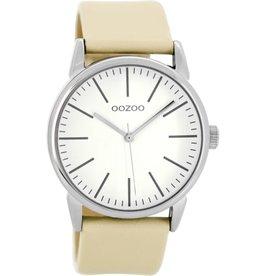 OOZOO Horloge zand / wit 40mm C8683 - OOZOO
