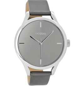 OOZOO Horloge zilvergrijs 40mm C9143 - OOZOO